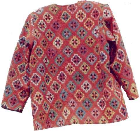 The back of the CROSS JACKET-Arabic Cross Stitch Embroidery, Palestinian embroidered (cross stitch) dresses, Free Shipping, Palestinian embroidered (cross stitch) Jackets, Palestinian embroidered (cross stitch) Shawls , Palestinian embroidered (cross stitch) Vests, Palestinian embroidered (cross stitch) cushions, Palestinian embroidered (cross stitch) pillows, Palestinian embroidered (cross stitch) Wall hangings